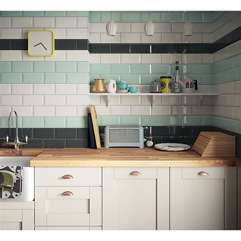 kitchen worktop tiles uk wickes metro mint green ceramic tile 200 x 100mm wickes 6578