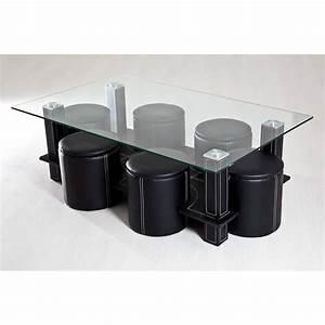Table Basse Pouf Intégré : table basse avec pouffe achat vente table basse avec pouffe pas cher black friday le 24 11 ~ Dallasstarsshop.com Idées de Décoration