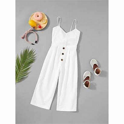 Jumpsuit Cami Button Shein Casual Teen Jumpsuits