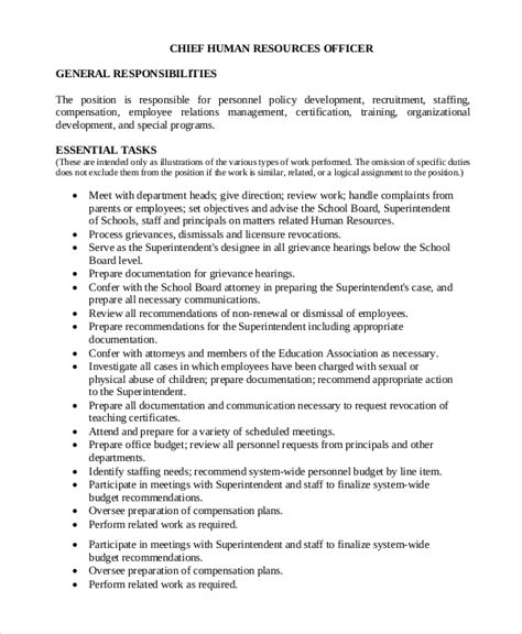 sample human resources job description templates