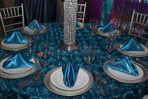 Elegant Modern Table Place Setting Stock Photo