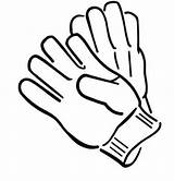 Gloves Coloring Winter Pages Pair Glove Boxing Medical Clothing Season Sheets Colouring Drawing Clipart Clip Draw Cliparts Sheet Adventure Baseball sketch template