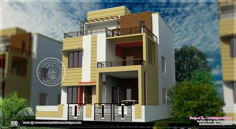 Small Condo Kitchen Ideas - 3 story house plan design in 2626 sq feet kerala home design and floor plans