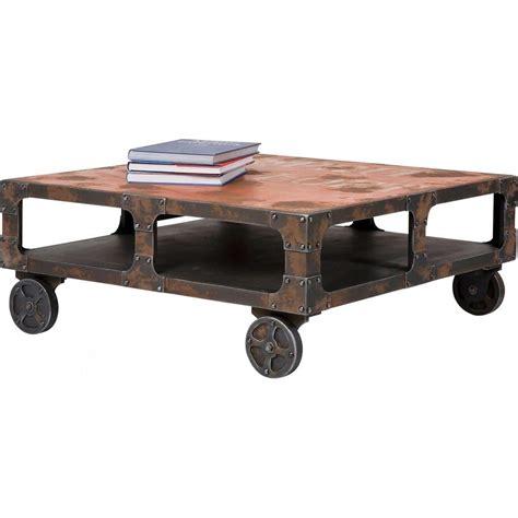 table basse industrielle  modeles fous  surprenants