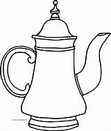 Teapot Coloring Tall Wecoloringpage Pages sketch template