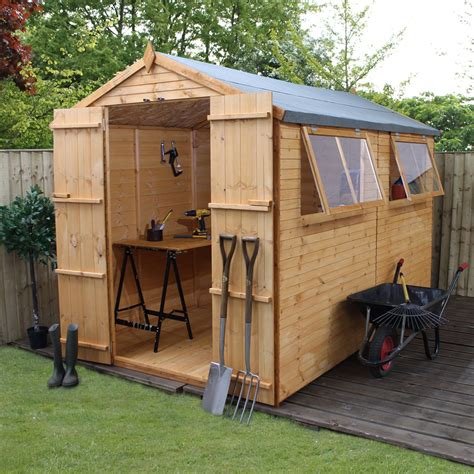 Small Sheds B Q by 10x6 Apex Shiplap Wooden Shed Departments Diy At B Q