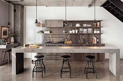 stainless shelves industrial kitchen pinterest enviable kitchen design of a london chef my warehouse home