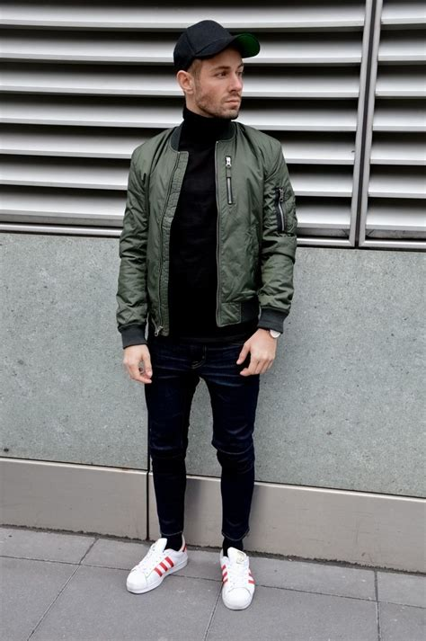336 best Green Bomber Jacket images on Pinterest   Man style Menu0026#39;s clothing and Man outfit