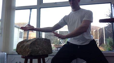 Iron Palm And Fist Rock Training Iron Body Martial Arts