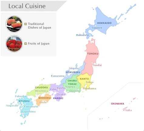 cuisine by region maps of ginga scans