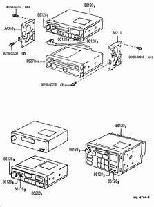 1992 Toyota Knob  Radio Receiver  Knob  Radio Receiver