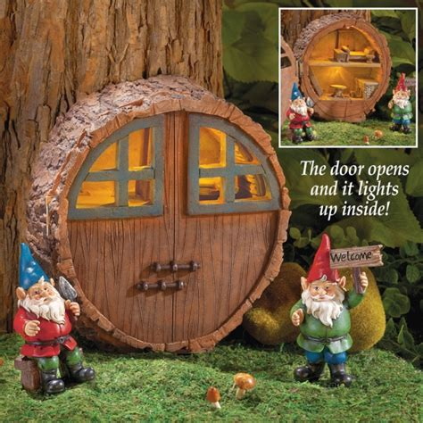 mini outdoor solar gnome house fresh garden decor