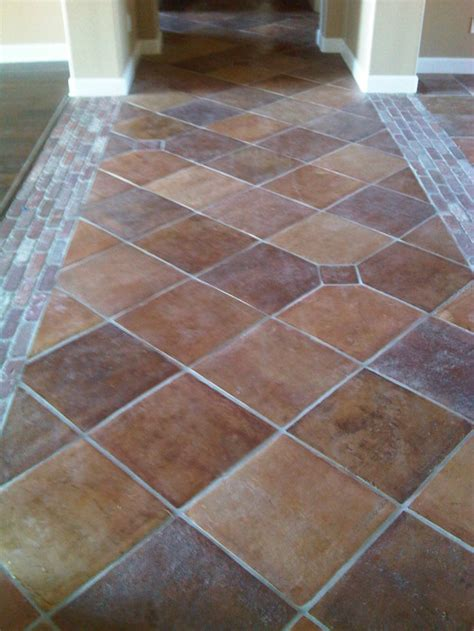 can i restain my regular saltillo like the tile here