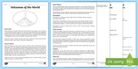 Volcanoes Worksheet  Volcano, Worksheet