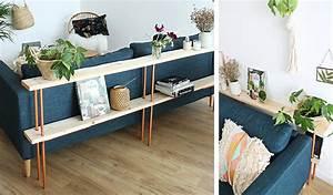 Console Derriere Canapé : meuble derriere canape meuble derriere canape rangement ~ Melissatoandfro.com Idées de Décoration