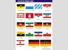 Flags of German Lands vector clipart, vector images