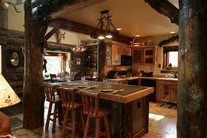 contemporary and classical rustic interior design With aesthetic elements in designing a rustic kitchen
