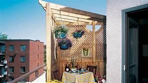 Tonnelle Pour Balcon : une pergola pour le balcon r novation bricolage ~ Premium-room.com Idées de Décoration