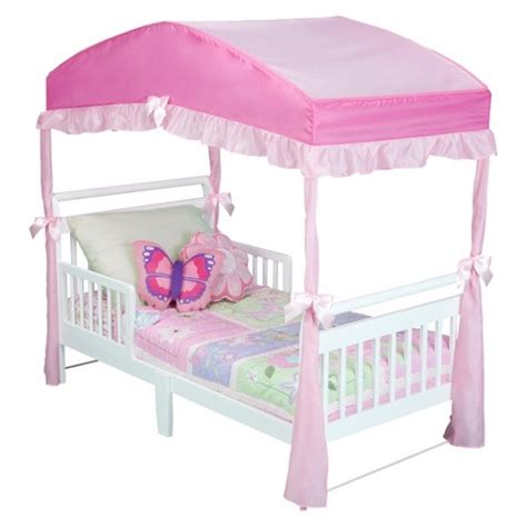 Toddler Bed With Canopy by Delta Children Toddler Bed Canopy Target
