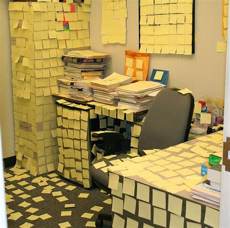 bureau post it office humor another post it note prank office humor