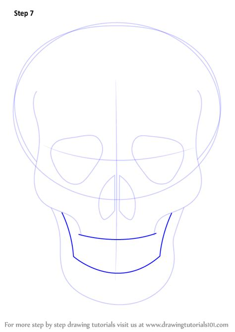 step  step   draw skull easy drawingtutorialscom
