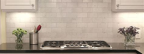 Marble Carrara Subway Backsplash Tile