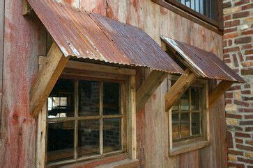 galvanized decor ideas    metal awning shed