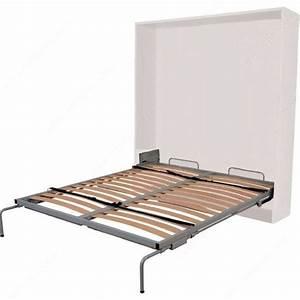 Mécanisme Lit Escamotable : m canisme de lit mural vertical avec pattes d ploiement ~ Voncanada.com Idées de Décoration