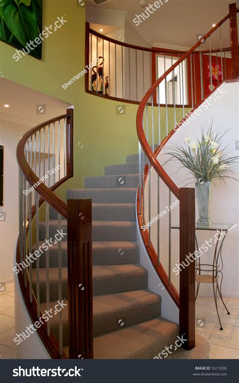 beautiful curved staircase stock photo  shutterstock