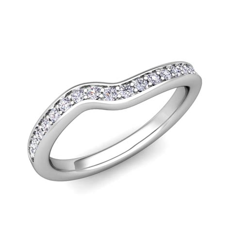 custom curved wedding ring band for women diamonds gemstones