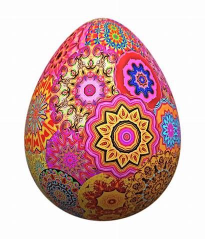 Easter Egg Colorful Transparent Mandala Hunt Bunnies
