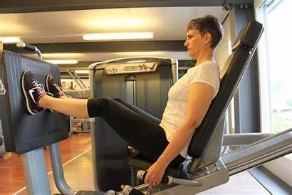 Beckenboden Beinpresse Fitness Studio