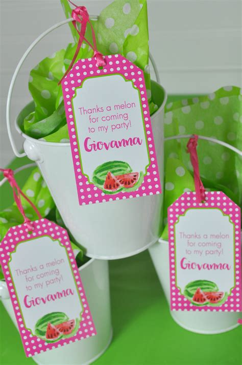 watermelon party favor tags   tags party favors