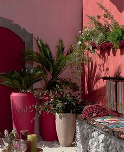 murs et jarre jardin peintures un degrade de rouge et With decoration mur exterieur jardin 7 la deco jardin recup en 41 photos inspirantes