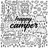 Coloring Camping Camper Pages Happy Colouring Adult Sheets Rv Fun Funny Alphabet Gone Theme Cute Google Drawn Hand Books Rocks sketch template