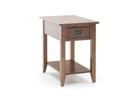 mission oak chairside table steinhafels