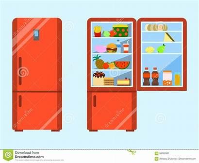Freezer Fridge Clipart Refrigerator Dreamstime Vector