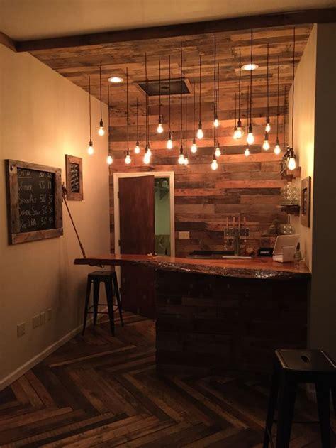 pin  steve cole  basement bar ideas diy pallet wall
