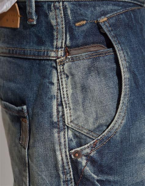 Kemeja Topman Pocket Denim zara pocket in blue for lyst the
