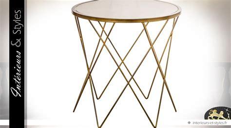 table bout de canape en verre design bout de canap 233 rond design en m 233 tal dor 233 et verre 216 60 cm int 233 rieurs styles
