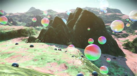 Here's a No Man's Sky bubble planet, and one covered with ...