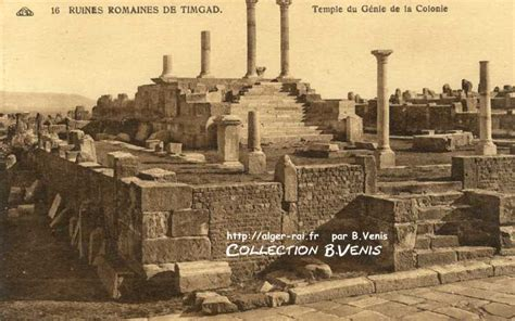 timgad antique thamugadi le temple du genie de la colonie http alger roi fr