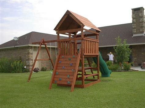 wooden swing set plans ideas  pinterest