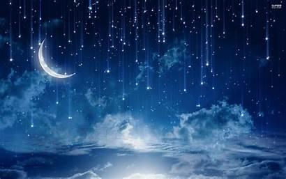 Stars Sky Night Wallpapers Desktop Falling