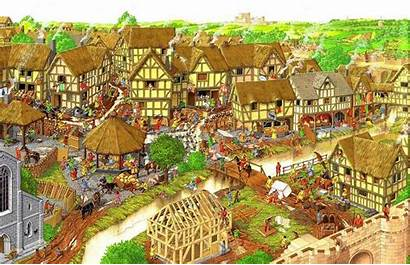 Medieval Towns Town History Middle Ages Village
