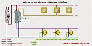 Schema Telerupteur Legrand : sch ma electrique t l rupteur unipolaire sch ma ~ Dode.kayakingforconservation.com Idées de Décoration