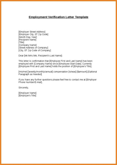 verification  employment letter examples  examples