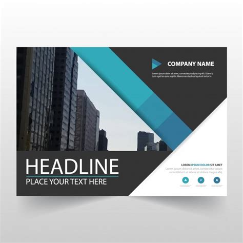 Free Business Flyer Templates by Blue Horizontal Business Flyer Template Vector Free