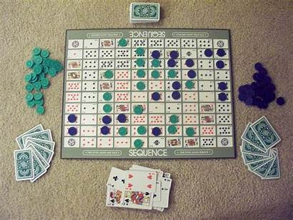 Sequence Card Layout Board Winning Gaming Homemade