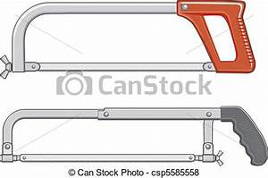 Vector of Hacksaw - Illustration of two hacksaws. One is ...